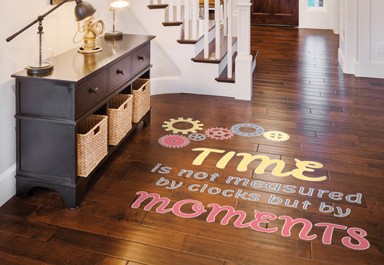 interesting  House entryway floor quote sticker