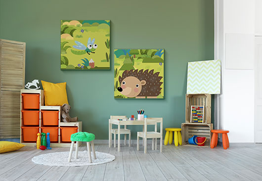 kid's room custom drawing prints decor