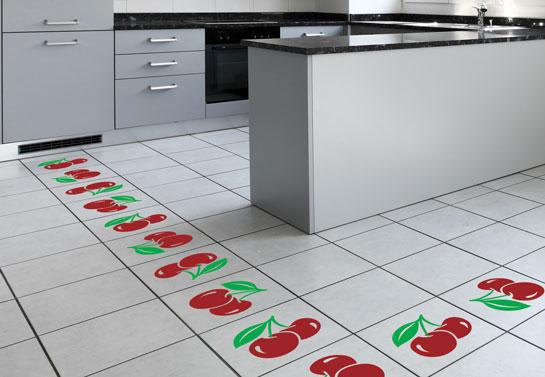 kitchen cherry-shaped floor sticker