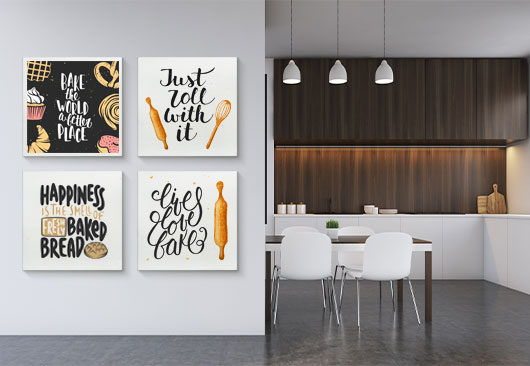kitchen culinary print decor idea