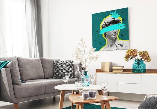 modernized statue of David canvas art print idea
