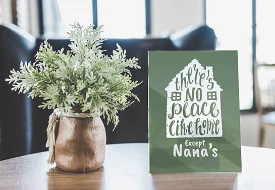Mother's day sign idea in green color as a gift for grandma