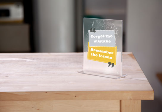motivational acrylic table sign for home office desk decorating