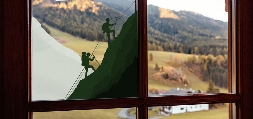 mountain climbers decorative decal for home windows