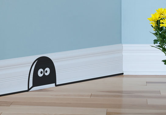 mouse house baseboard sticker