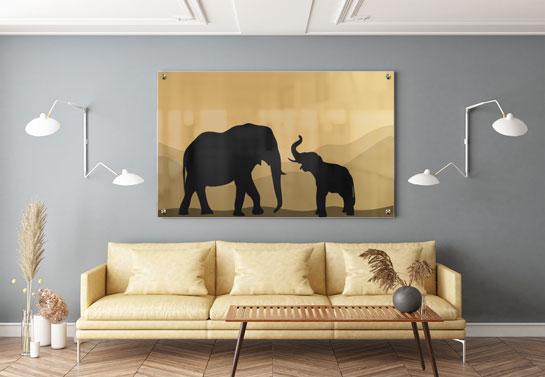 Nature living room wall decor idea