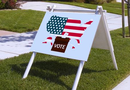 Vote patriotic election sign design idea