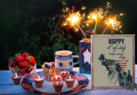 Happy 4th of July table decor idea