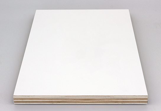 plain white painted plywood board