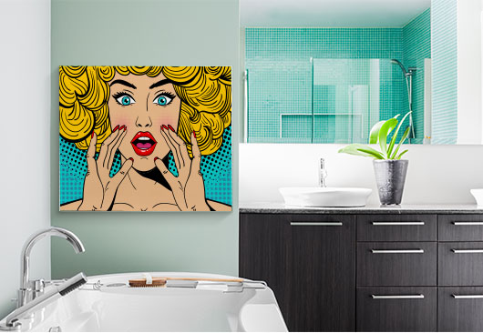 pop art canvas print idea
