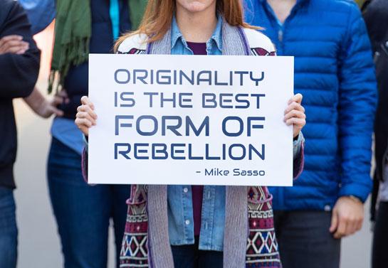 rebellion quote protest sign unique idea on foamboard
