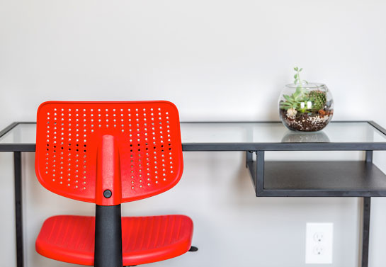 red home office chair