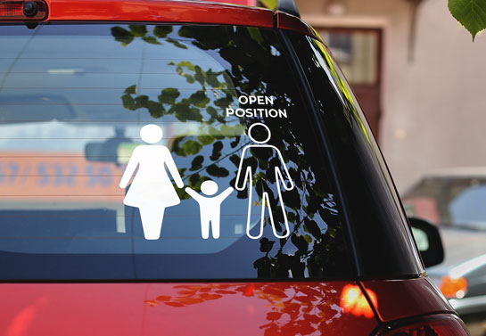 funny single mother car back window decal