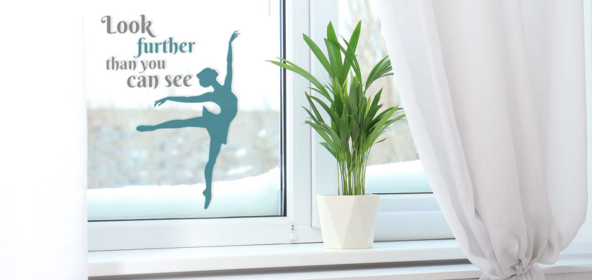 inspiring text print window decorative decal for home window decorating