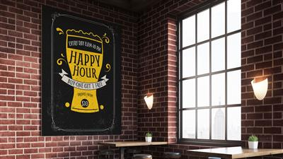 Happy Hour Gatorboard Sign