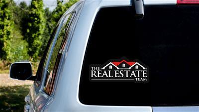 Real Estate Car Decal
