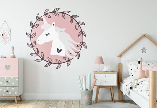 unicorn wall decor idea for decorating kid room walls