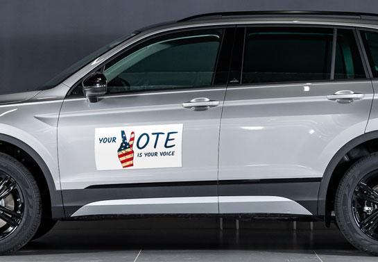 Your Vote Is Your Voice unique political sign idea