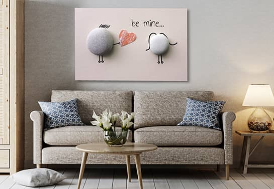 valentine room decoration idea with canvas