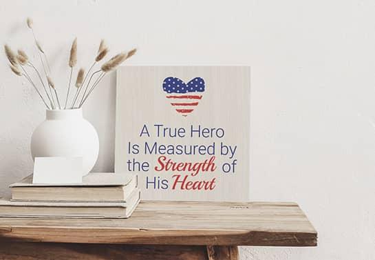Veterans Day appreciation gift idea as a desk decor