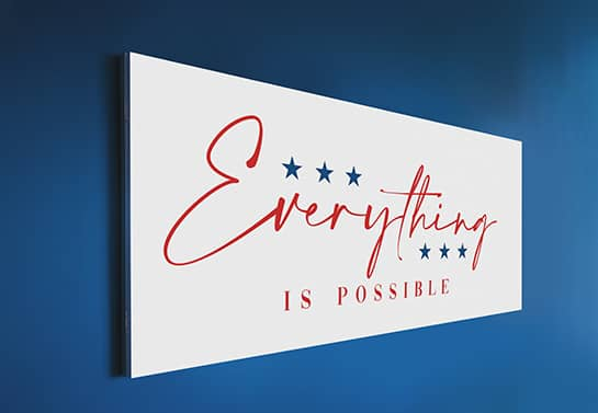 patriotic gift sign for veterans displaying a motivational phrase