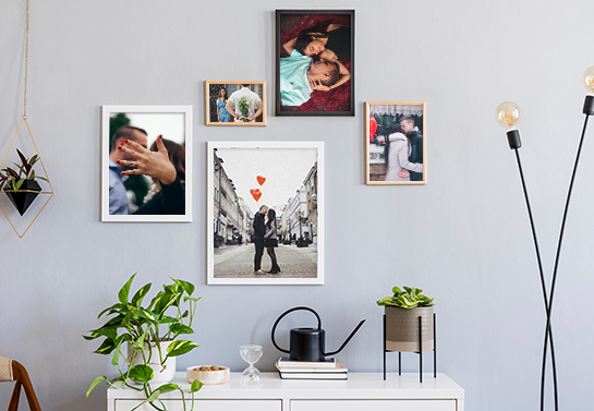wall memory pictures for valentine's day decoration idea