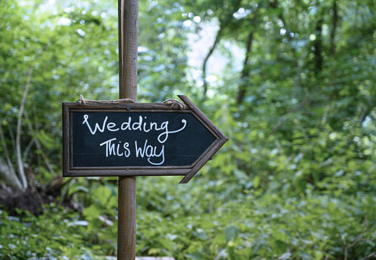 wedding chalkboard sign design idea with a custom quote