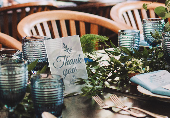 Thank You wedding gift table sign idea