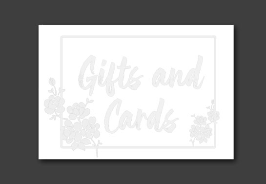 wedding guest sign board design idea printed on a paper