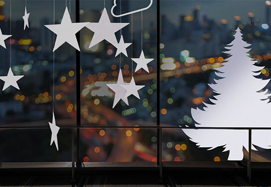 white cut out stars christmas decoration idea