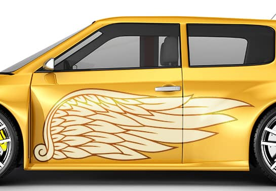 instructions for applying large car decal