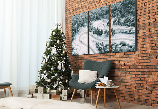 celebrity Christmas house decor for the wall in the style of Christina Milian