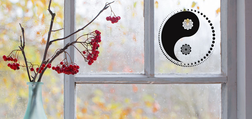an idea on how to decorate home windows with unique symbols