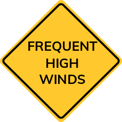 High Winds Sign | Indicate and warn of possible danger
