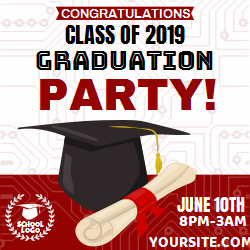 Graduation party announcement customizable template