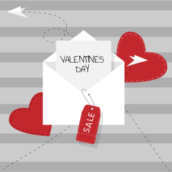 Valentines Day Sales | Envelope full of love and passion