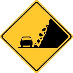 Falling rocks sign | Indicates and warns a risk of falling rocks