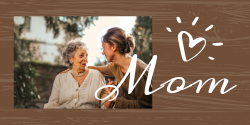 Mother's Day template with personal photos