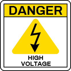 Danger Template Announcing High Voltage