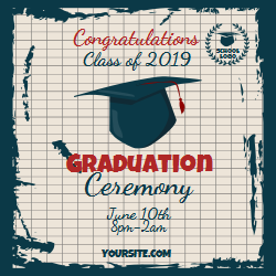 Editable template for the graduation ceremony