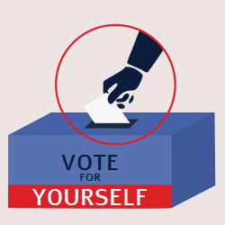 Elections | Vote for yourself | Cast your vote into the box