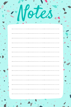 Customizable notes template
