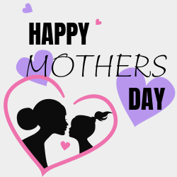 Happy Mothers Day template with colorful appearance for lovely holiday