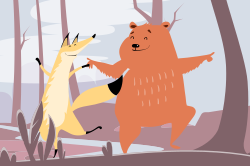 Dancing animals template