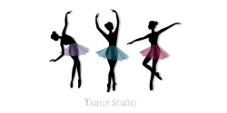 Dance studio | The  ballet dancers in different dancing positions
