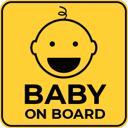 Baby on board sticker template