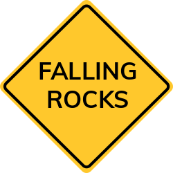 Falling rocks sign | Let know about potential danger