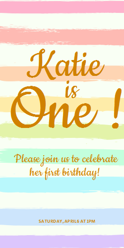 Birthday invitation | rainbow background