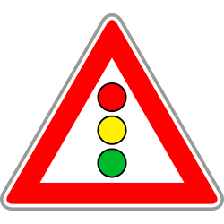 Traffic light sign in red Triangle | Regulatory Sign