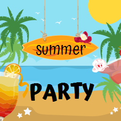 Summer Party | Sunny Beach, Hanging Surf and Cocktails